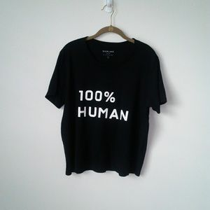 "Everlane | tshirt black ""100% HUMAN"" size large"